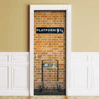 Sticker for Door / Wall / Fridge - Platform. Peel & Stick Removable Decole, Mural, Skin, Cover, Wrap, Decal, Poster