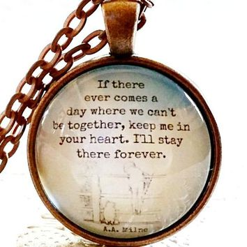 Winnie the Pooh Quote Necklace | Inspirational Quote | Encouraging Gift