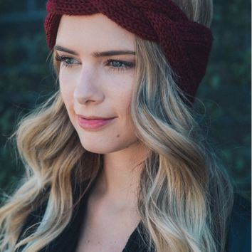 Braid Front Knit Crochet Headband - 3 Colors!
