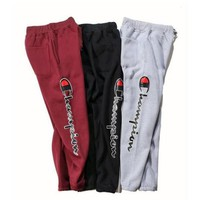 Champion Fashion Print Drawstring Pants Trousers Sweatpants