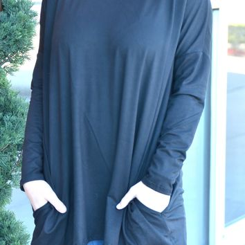 Just In Time Tunic - Black