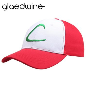 2018 Hot Letter Adult snapback Gorras Anime Cospaly Casquette  Hat Ash Ketchum Visor Caps Costume Play Baseball CapKawaii Pokemon go  AT_89_9