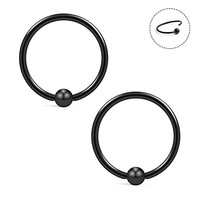 18G 10mm Nose Hoop Lip Eyebrow Tongue Helix Tragus Cartilage Septum Piercing Ring 2-12PCS