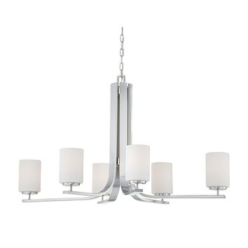 PENDENZA chandelier Brushed Nickel 6x100