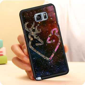 Browning Style Heart Buck Doe Deer Sticker Decal Duck Hunting Samsung Galaxy Note 7 Case Dollarscase.com