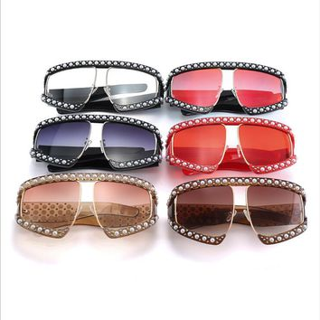 2018 color fashion pearl woman Sunglasses