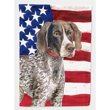 German Shorthaired Pointer Patriotic Flag Canvas House Size BB9641CHF
