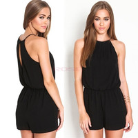 New Women Playsuit Romper Sexy Summer Clothing Casual Sleeveless Short Black Jumpsuit Macacao Female SV011503|26601 = 1745481796
