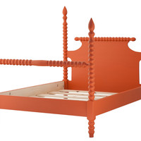 Gwendoline Spindle Bed, Orange, Four Poster Beds
