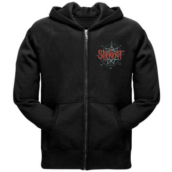 Slipknot - Skull Back Adult Zip Hoodie
