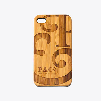 Wooden P&Co phone case