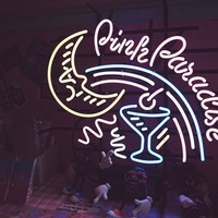 Pink Paradise Neon Sign Real Neon Light