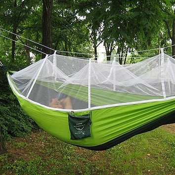Camping Hammock - Single Person w/ Mosquito Net