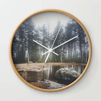 Moody mornings Wall Clock by happymelvin