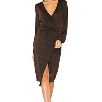 MINKPINK Hustle Metallic Knot Dress in Bronze | REVOLVE