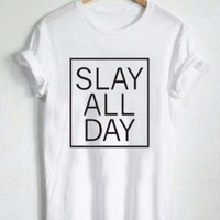 beyonce slay all day T Shirt Size S,M,L,XL,2XL,3XL