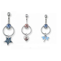 Set of 3 Belly Button Rings
