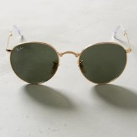 Ray-Ban Round Folding Sunglasses in Gold Size: One Size Eyewear