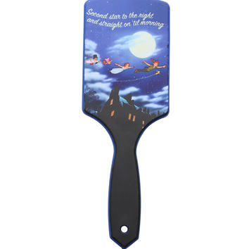 Disney Peter Pan Flying Second Star To The Right Hair Brush