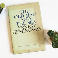 "Vintage ""The Old Man and the Sea"" Novel by Ernest Hemingway with Dust Jacket, 1970s"
