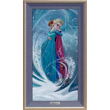 Frozen ''The Warm Embrace'' Giclée on Canvas by Lisa Keene - Limited Edition | Disney Store