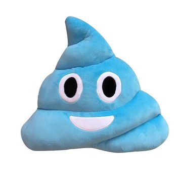 Amusing Emoji Emoticon Cushion Heart Eyes Poo Shape Pillow Doll Toy Gift