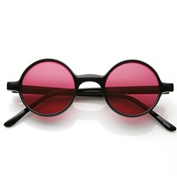 Small Retro Round Lennon Style Color Lens Sunglasses 8631