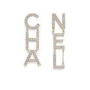 Double C Letter Earrings