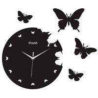 "Creative Motion 14.17"" Butterfly Wall Clock"
