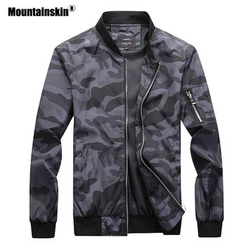 Mountainskin 2018 New Men's Camouflage Jackets Male Coats Camo Bomber Jacket Mens Brand Clothing Outwear Plus Size M-7XL SA527