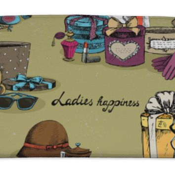 Bath Mat, Woman Accessory With Gift Boxes