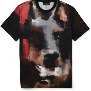 Givenchy Doberman-Print Cotton-Jersey T-Shirt | MR PORTER