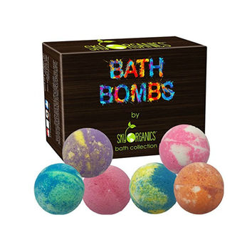 6 HUGE Organic Bath Bombs Gift Set