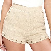 Moon River Oliver Beige Shorts
