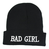 Cool Bad girl Sport knitted Beanie gorras hat bonnet gorro Beanies winter hats for grils cap beanie gorros woman female girls hiphop outdoors wool Hip-hop cap Letter Beanie Warm ski hat caps = 1958108036