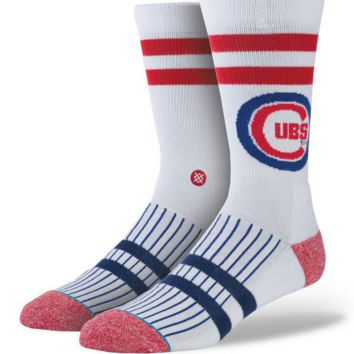 Chicago Cubs White North Siders Socks by Stance