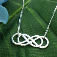 Revenge Double Infinity Times Infinity Silver Necklace by yhtanaff