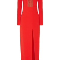 Tom Ford - Mesh-paneled stretch-crepe gown
