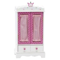 "18 Inch Doll Wish Crown Storage | Doll Armoire Closet Furniture | Fits 18"" American Girl Dolls - Storage for 18 Inch Doll Clothes & Dresses"