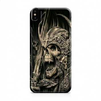 death skull gold iPhone X case