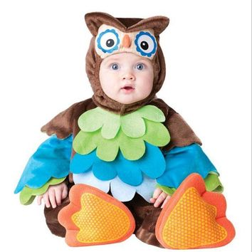DCCKH6B Baby Vampire Bats Cosplay Rompers Owl Animal Fancy Costumes for Little Baby Girl Boy Birthday Party Clothes Child Fancy Wear
