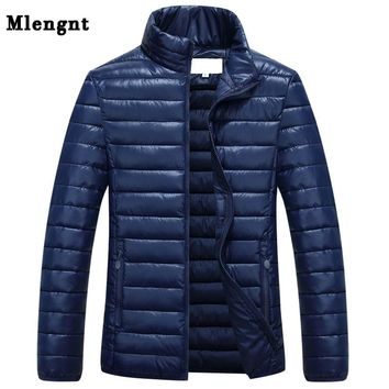 Big Size Male Cotton Padded Outwear Jacket Winter L-6XL Men Casual Windbreak Thicken Warm Long Parka Varsity Coat 1110
