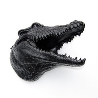 Faux Taxidermy - Black Alligator - Wall Mount - Faux Alligator A17