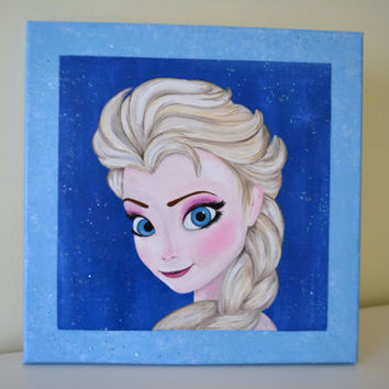 "Elsa painting. Disney ""Frozen"" movie."