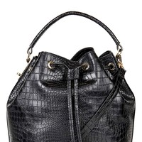 Topshop Croc Embossed Bucket Bag | Nordstrom