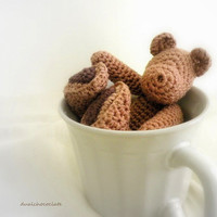 Little Cotton Crochet Bear Chocolate Bear Sweet by dualchocolate