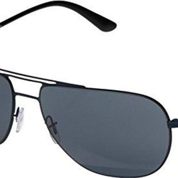 Giorgio Armani  Men's 0AR6060 Matte Blue/Grey Sunglasses