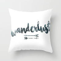 Wanderlust Throw Pillow by Janelle Krupa