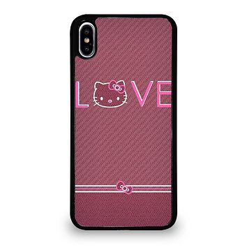 LOVE HELLO KITTY iPhone XS Max Case