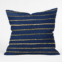 Social Proper Nautical Sparkle Throw Pillow